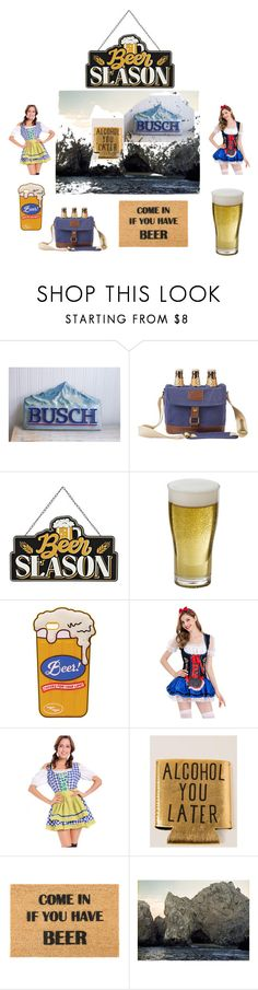 """""""Beer Cave"""" by mollysmuses ❤ liked on Polyvore featuring Cathy's Concepts, WithChic, Natural Life, Artsy Doormats, Elise Flashman, men's fashion and menswear"""