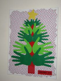 What a Team!: Feeling Crafty! Family Handprint Christmas Tree