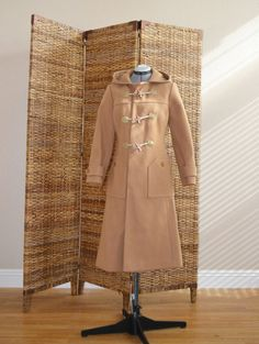 Vintage 70s Brown Wool Hooded Boho Hipster Trench by xanaduvintage, $82.00