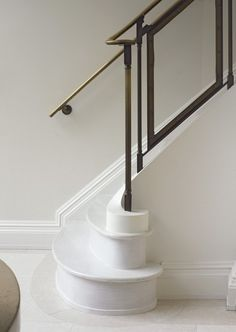 Kathryn Scott Design Studio: curving stair detail in a Paris townhouse