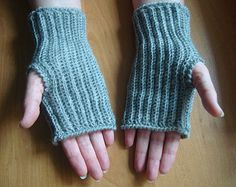 Items similar to Yellow and Gray Fingerless Gloves- IN STOCK on Etsy