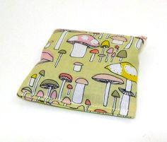 Organic Cotton Catnip Pillow  Mushrooms by OrganicKittyLand