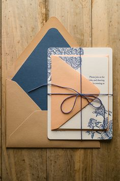 ELIZABETH Suite Rustic Package, PEONY WEDDING INVITATIONS, navy, peach, kraft…