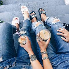 Denim friends. #coffeenclothes