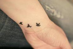 tiny bird tattoo. (seen by @Camiolz986 )