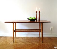 Soffbord i Teak Sv.Design Retro 60-tal Teak Furniture, Furniture Ideas, Big Windows, Cozy Place, Dining Bench, Mid Century, Living Room, Wood, Interior