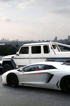 draftthemes: cknd: Lamborghini Aventador vs Mercedes G63 AMG...