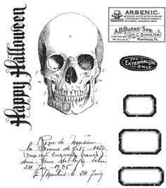 Halloween Apothecary Stampers Anonymous Tim by chicsupplystudio, $18.99