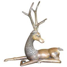 Antique Sculptures For Sale at Bronze Sculpture, Sculpture Art, Thai Design, Seventies Fashion, Deer Art, Sculptures For Sale, Painting & Drawing, Vintage Shops, Goat