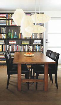 8 best dining mcm style images on pinterest george nelson nelson cigar pendant lamps pendant lighting room board aloadofball Images
