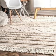 Shop The Curated Nomad Diamond Heights Ivory Handwoven Wool Casual Moroccan Raised Chevron Shag Rug - On Sale - Overstock - 26890637 Living Room Carpet, Rugs In Living Room, Tapis Design, Rug Texture, Area Rugs For Sale, Manta Crochet, Rugs Usa, Black Rug, Fashion Room