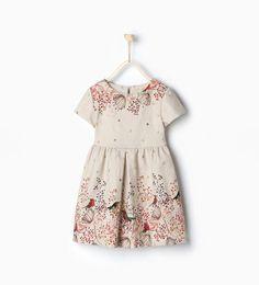 Image 1 of Birds dress from Zara Casual Dresses, Girls Dresses, Summer Dresses, Formal Dresses, Little Fashion, Tween Fashion, Tween Mode, Bird Dress, Zara Kids