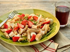 Click to view larger image of Strawberry Mozzarella Chicken Pasta Salad : Fill Half Your Plate with Fruits & Veggies : Fruits And Veggies More Matters.org