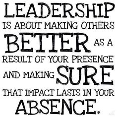 Agreed! What do you think? #Leadership