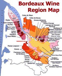 Bordeaux wine map France