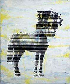 Horse-Motor - by Günter Pusch - oil, paint on canvas - Sculptures, Symbols, Horses, Oil, Canvas, Painting, Painting Art, Kunst, Tela