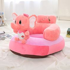 Princess Children Soft Plush Chair Toddlers Armchair Seat Nursery Baby Sofa