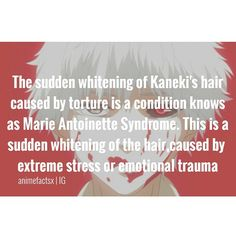 It's named for the last Queen of France,whose hair turned white during the imprisonment prior to her execution . Witnesses have alleged that Antoinette's hair suddenly turned white on three seperate occasions - Character : Kaneki Ken Anime : Tokyo Ghoul Angel Beats, Mirai Nikki, Kaneki, Awesome Anime, I Love Anime, Death Note, Otaku Anime, Tokyo Ghoul Wallpapers, Manga Anime