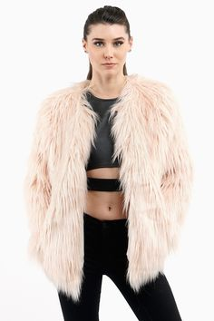 EDITOR'S NOTES & DETAILS It's cotton candy blast with this unbelievably soft fluff of Pink Blush Faux Fur. This fun little coat number will take you from street to fab chic in 3,2,1 with no regrets an