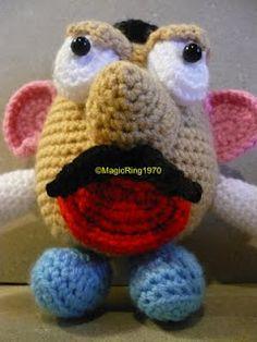 Magic Ring: PDF - Mr Potato head English / French crochet