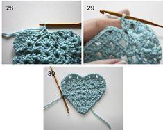 How to Crochet a Granny Heart - Tutorial =)