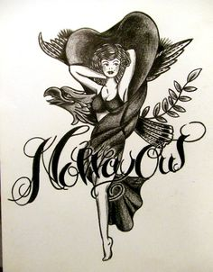 N.W.O - Black colored pencil on paper