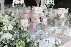 Allestimento matrimonio in rosa elegante