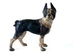Hubley Boston Cast Iron Terrier Door Stop Antique Dog Figurine on Etsy, $195.00