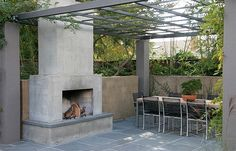 Modern Outdoor Fireplace, Concrete Outdoor Fireplace Outdoor Fireplace Huettl Thuilot Landscape Architecture Construction , The Effective Pictures We Offer You About fireplace christmas A quality pict Outside Fireplace, Backyard Fireplace, Concrete Fireplace, Concrete Patio, Freestanding Fireplace, Wood Patio, Modern Outdoor Fireplace, Outdoor Fireplace Designs, Outdoor Fireplaces