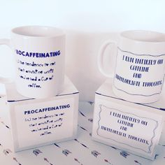 Caffeine is definitely KEY! Had fun with these new designs 😍 Especially For You, Caffeine, Special Gifts, Etsy Seller, Heaven, Key, Homemade, Thoughts, Mugs