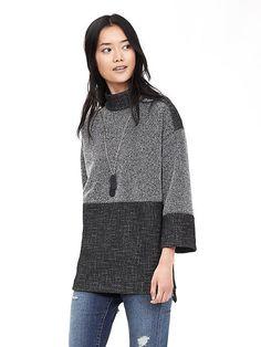 Textured Tweed Sweatshirt