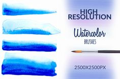 Watercolor Brushes by desenart on Creative Market
