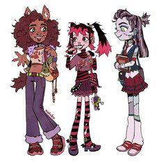 Monster High Art, Monster High Dolls, Cute Drawlings, Cute Art, Character Inspiration, Character Art, Character Design, Personajes Monster High, Character Illustration