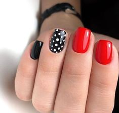 Trendy Nails Black Classy Polka Dots 59 Ideas Trendy Nails Schwarz Noble Tupfen 59 Ideen This image has get. Black Nail Art, Dot Nail Art, Polka Dot Nails, Polka Dots, Black Polish, Polka Dot Pedicure, Fancy Nails, Red Nails, Pretty Nails