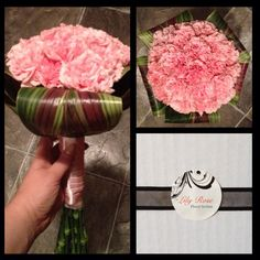 Carnation posy, sweet soft look
