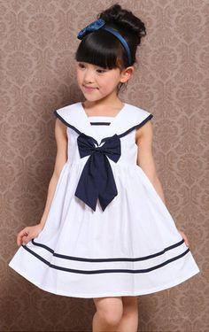 novelaleonetta19 Baby Girl Party Dresses, Little Girl Dresses, Girls Dresses, Frocks For Girls, Tutus For Girls, Denim And Lace, Toddler Fashion, Kids Fashion, Summer Dresses Online