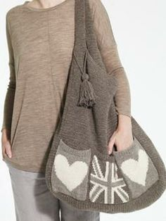 Love this bag.... I want to knit this