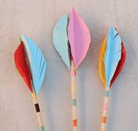 This fun arrow craft for kids is an example of a spur of the moment craft that happened at our house today with my six and eight year olds, just in time— just in time for Lag B'Omer that is,. Vbs Crafts, Nativity Crafts, Crafts To Do, Crafts For Kids, Arts And Crafts, Summer Camp Activities, Fun Activities To Do, Country Fair Party, Wild West Crafts