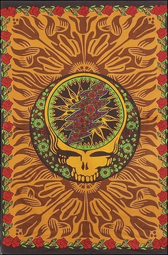 Grateful Dead - Orange Skull - 3D - Tapestry www.trippystore.com/grateful_dead_orange_skull_3d_tapestry.html