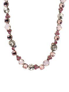 Sorrelli Clustered Circular Crystal Necklace