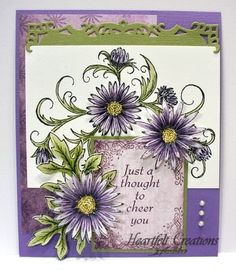 Heartfelt Creations | Purple Delicate Twining Asters Cheer