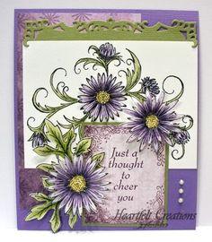 Heartfelt Creations | Purple Delicate Twining Asters Cheer