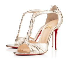 Jazzy Doll 100mm Gold Specchio Leather | Christian Louboutin