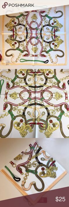 "Silk Scarf Brand New 100% silk scarf. Square approx. 21"" x 21"". Bought in Shanghai, China. Multi color. Stylish. Accessories Scarves & Wraps"