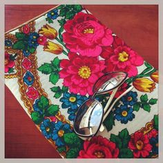 "Trendsetter Style MacBook  Pro 13"" Neoprene padded sleeve from traditional Russian Shawl - Tulip Wonderland"