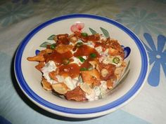 Sweet and sour chickpea chaat