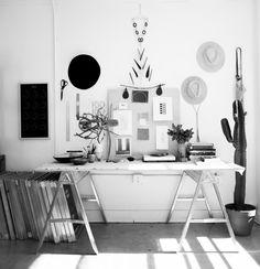 Rachel Craven's studio.