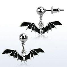 Dangling Black Bat Helix Jewelry Single Stud Cartilage Earring Halloween New USA   eBay