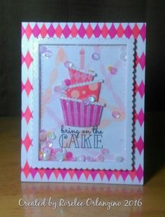 SSDTTT4 Birthday Cake Shaker Stamp of Approval Young at Hearts
