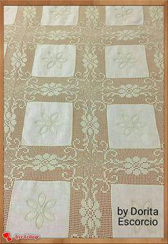 Crochet Lace Edging, Filet Crochet, Crochet Doilies, Crochet Stitches, Crochet Patterns, Crochet Butterfly, Crochet Tablecloth, Chrochet, Diy And Crafts